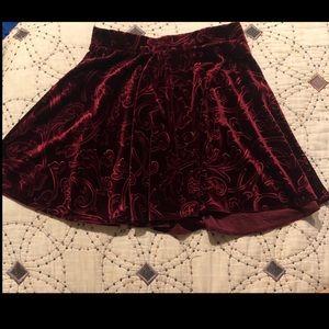 Red velvet Forever 21 Skater Skirt